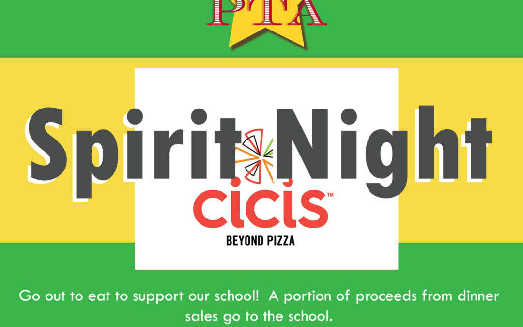 Cici's Pizza Spirit Night, October 5