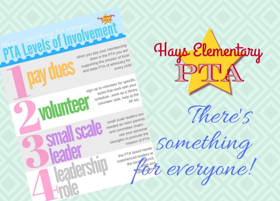 There's Something for Everyone | JOIN HAYS PTA NOW!